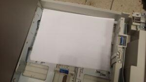 Mala colocación del papel