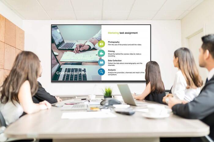 Pantalla interactiva Newline NT sala de reuniones