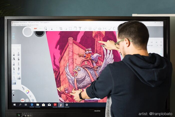 Pantalla interactiva Newline RS+ para la empresa